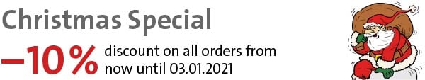 XMAS Special: –10% dicount on all orders